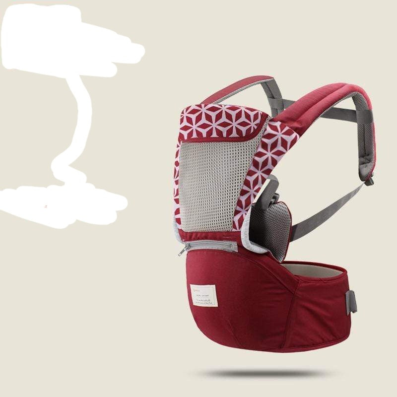 Fashionable Ergonomic Baby Carrier With Hipseat, and Sling Front - Mindful Yard