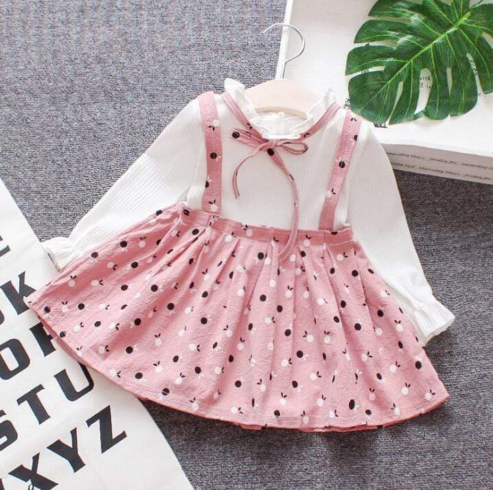 Cute Mini Baby Girl Lattice Dress With Headband - Mindful Yard