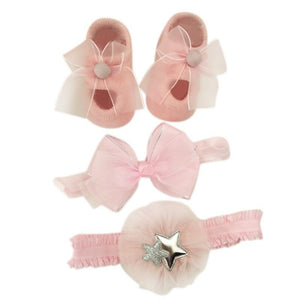 Baby Girls Hair Accessories Gift Boxes - 3pcs - Mindful Yard