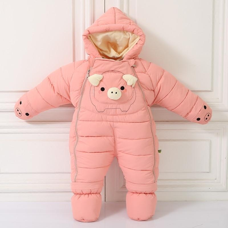 Hooded Down Baby Snowsuit - Mindful Yard