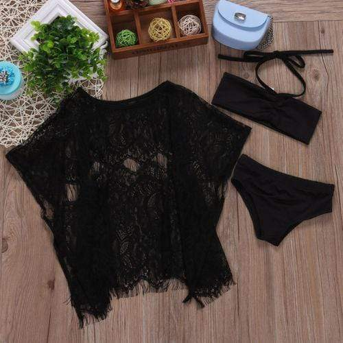 Princess Swimsuit Bikini & Lace Cover Up Outfits - Mindful Yard