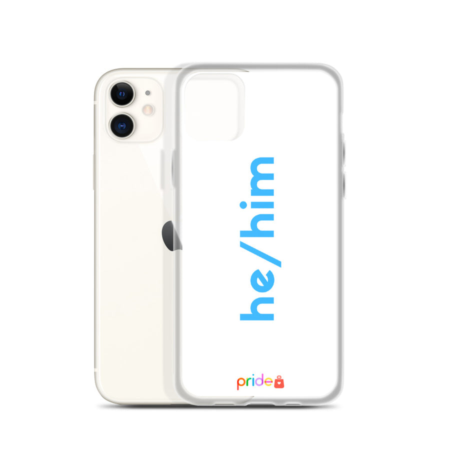 He/Him in White - iPhone Case for all iPhones