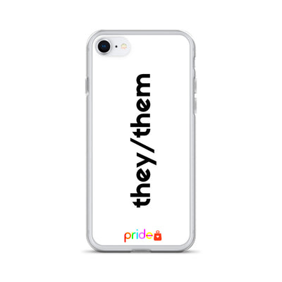 They/Them - Whiteout Phone Case