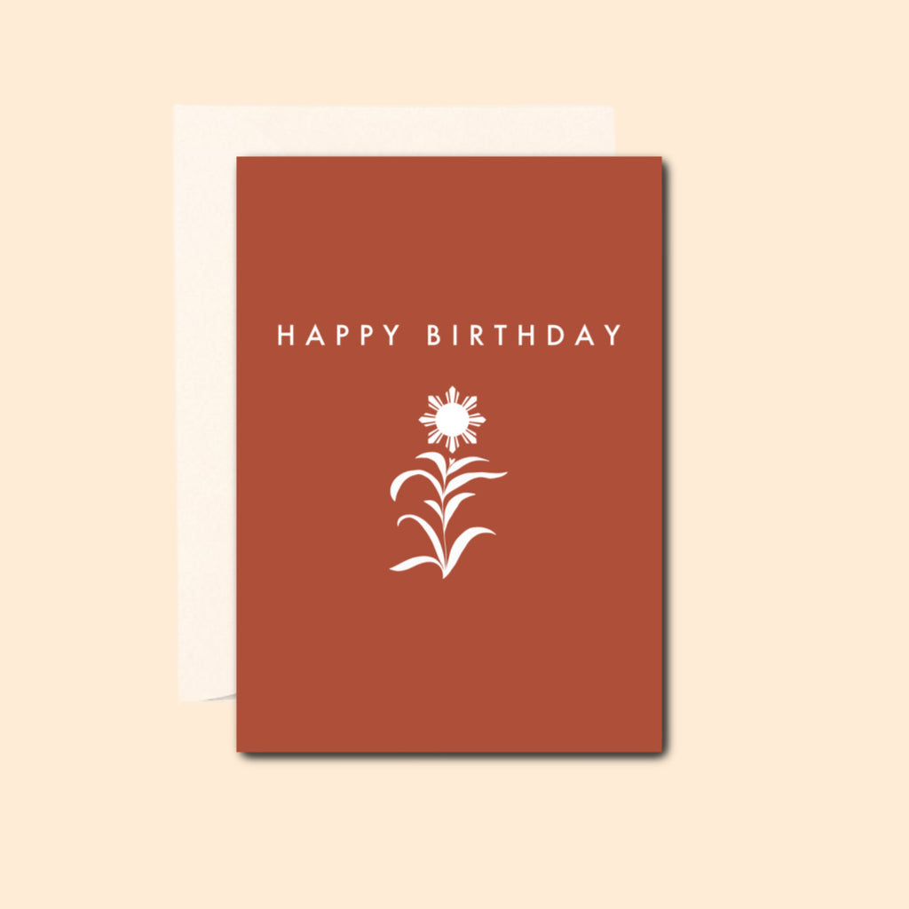 Happy Birthday in Terracotta Card