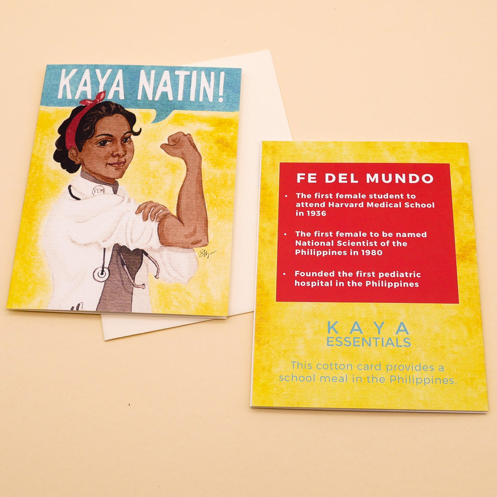 Fe Del Mundo Cotton Card