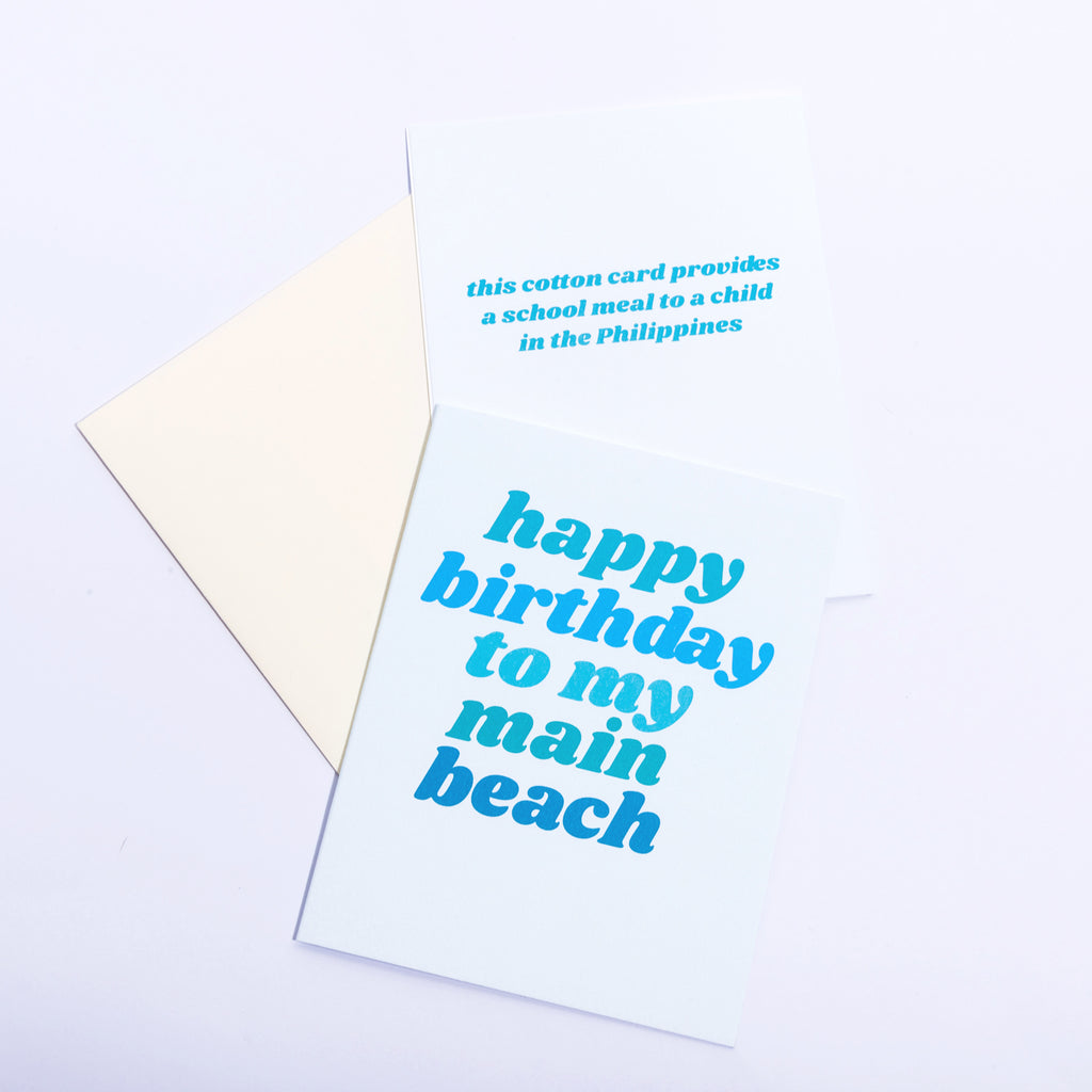 Cotton Card - Birthday Beach