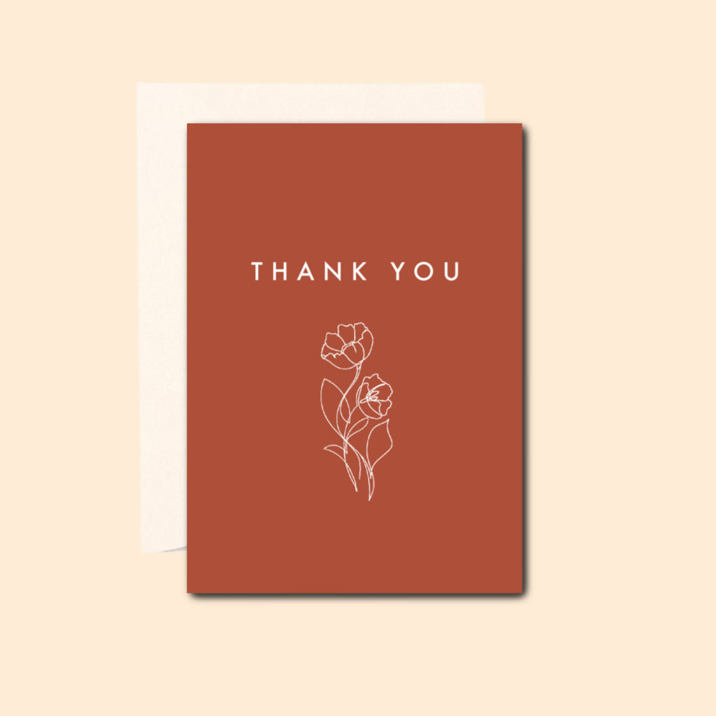Thank You in Terracotta Card