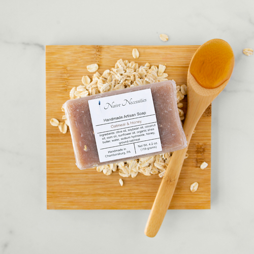 Oatmeal & Honey Bar Soap - Naive Necessities