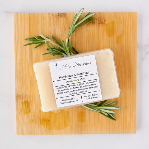Rosemary Mint Herbal Bar Soap - Naive Necessities