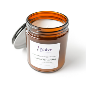 Cinnamon Apple Peach Soy Candle - Naive Necessities