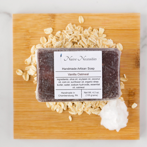 Vanilla Oatmeal Herbal Bar Soap - Naive Necessities