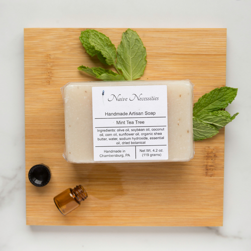 Mint Tea Tree Herbal Bar Soap - Naive Necessities