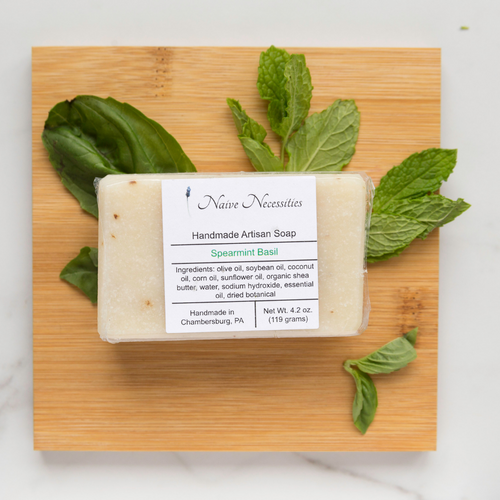 Spearmint Basil Herbal Bar Soap - Naive Necessities