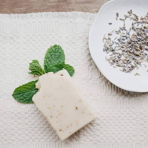 Frosted Lavender Bar Soap - Lavender - Mint - Essential Oils  - Refreshing - Uplifting - Herbal Bar - Artisan Soap