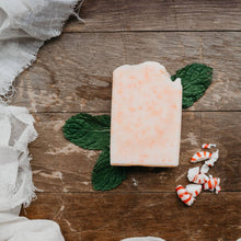 Load image into Gallery viewer, Peppermint Bar Soap - Jojoba Beads - Peppermint - Fresh - Uplifting - Gift - Artisan Soap - Essential Oils - Jojoba - Moisturizing