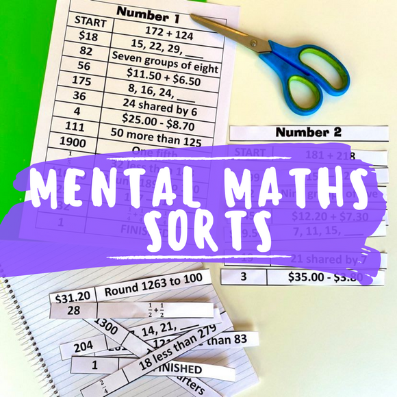 Mental Maths Sorts
