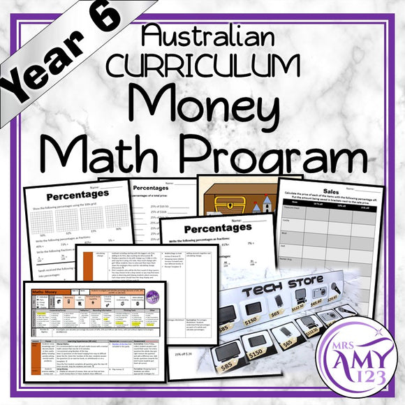 Year 6 Money Maths Program