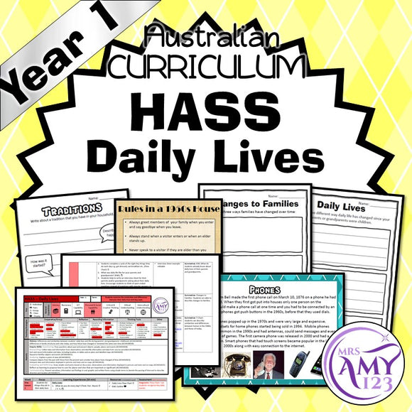 Year 1 Australian Curriculum HASS Daily Lives- History