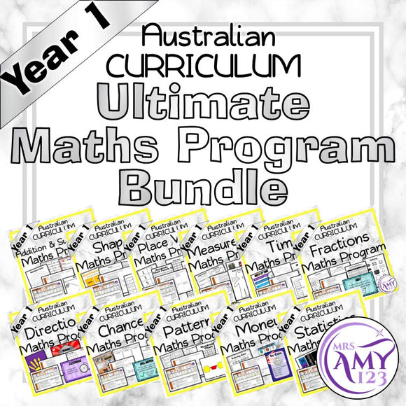 Year 1 Ultimate Maths Program Bundle- Australian Curriculum