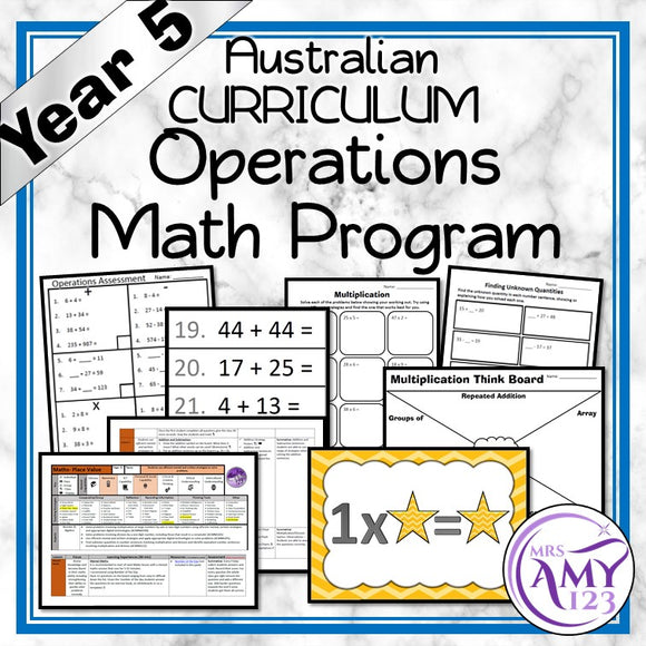 Year 5 Operations Maths Program