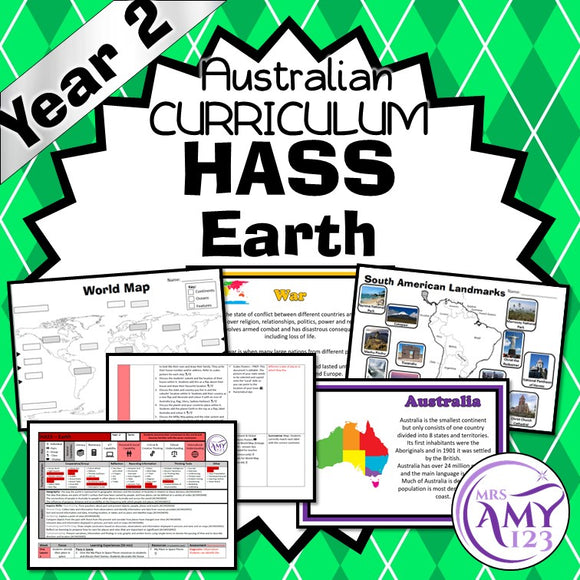 Australian Curriculum Year 2 HASS Geography Earth Unit