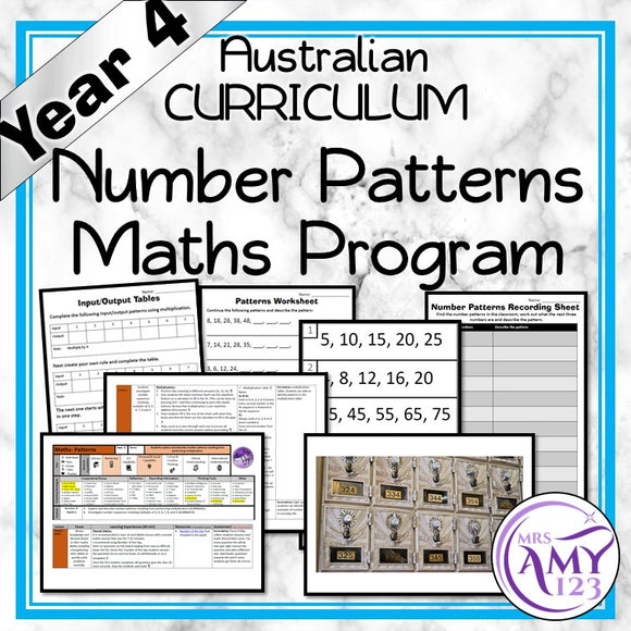 Year 4 Number Patterns Maths Program