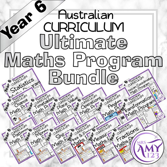Year 6 Ultimate Maths Program Bundle- Australian Curriculum