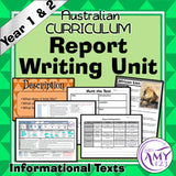 Information Report Writing Unit -Year 1 & 2- Aligned with Australian Curriculum