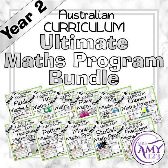 Year 2 Ultimate Maths Program Bundle- Australian Curriculum