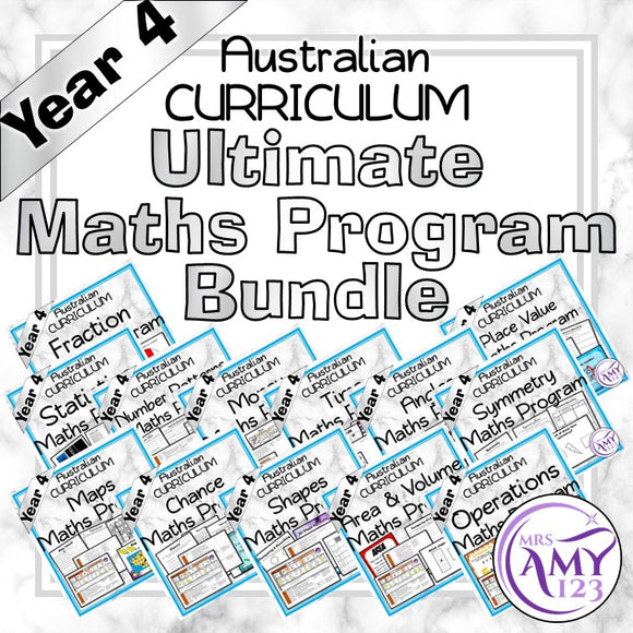 Year 4 Ultimate Maths Program Bundle- Australian Curriculum
