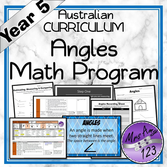 Year 5 Angles Maths Program