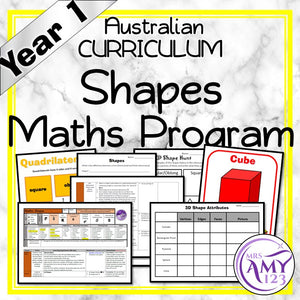 Year 1 Shapes Maths Program