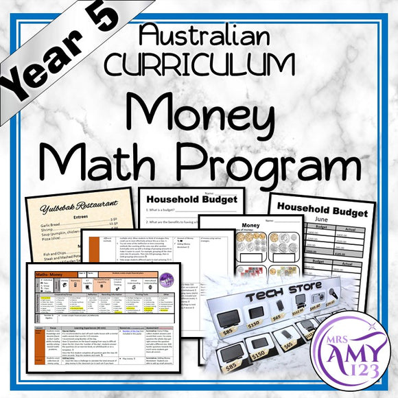 Year 5 Money Maths Program