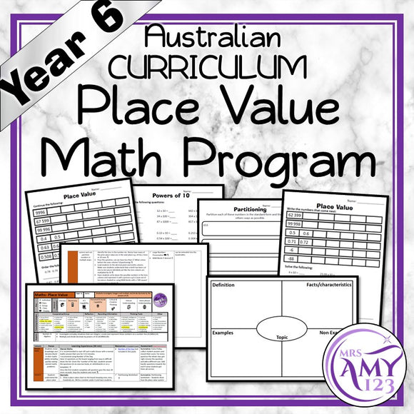 Year 6 Place Value Maths Program