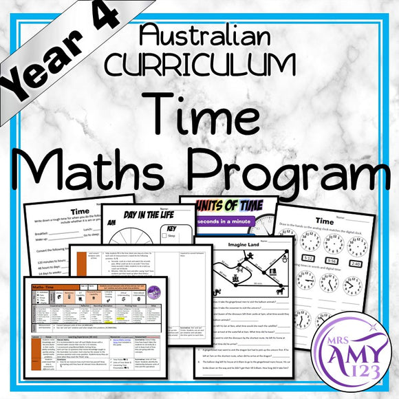 Year 4 Time Maths Program