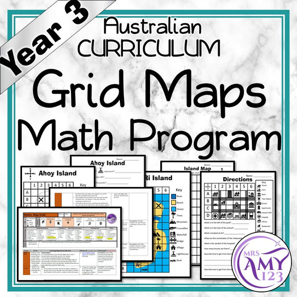 Year 3 Grid Maps Maths Program
