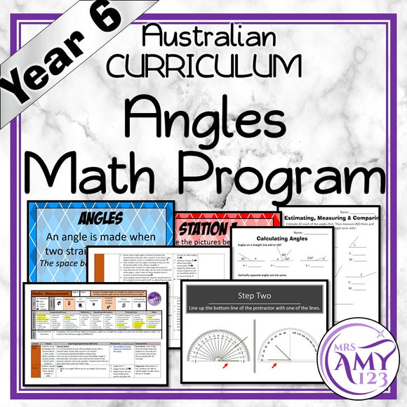 Year 6 Angles Maths Program