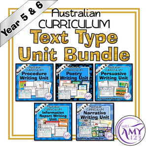 Year 5 and 6 Text Type Unit Bundle