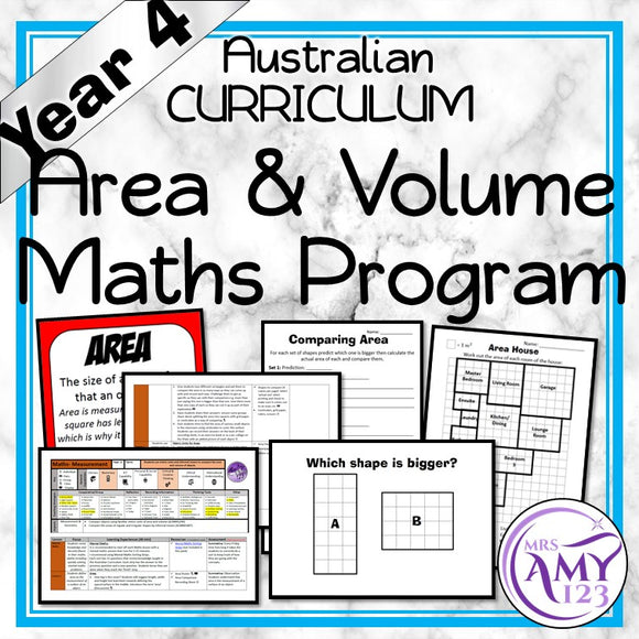Year 4 Area & Volume Maths Program