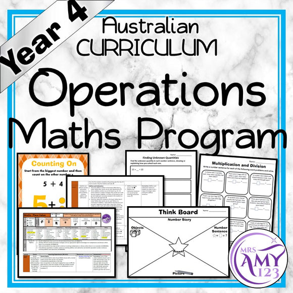 Year 4 Operations Maths Program