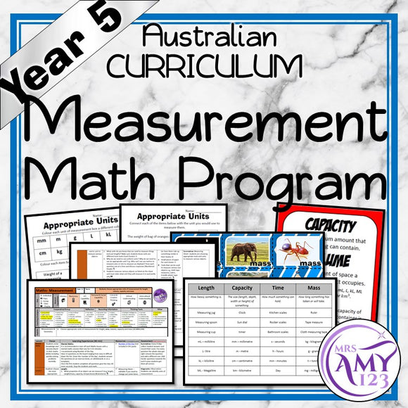 Year 5 Measurement Maths Program