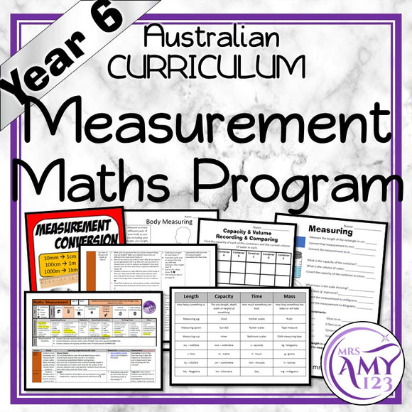 Year 6 Measurement Maths Program