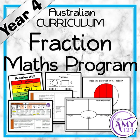 Year 4 Fractions Maths Program
