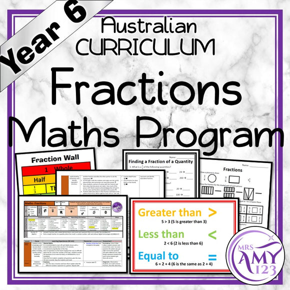 Year 6 Fractions Maths Program
