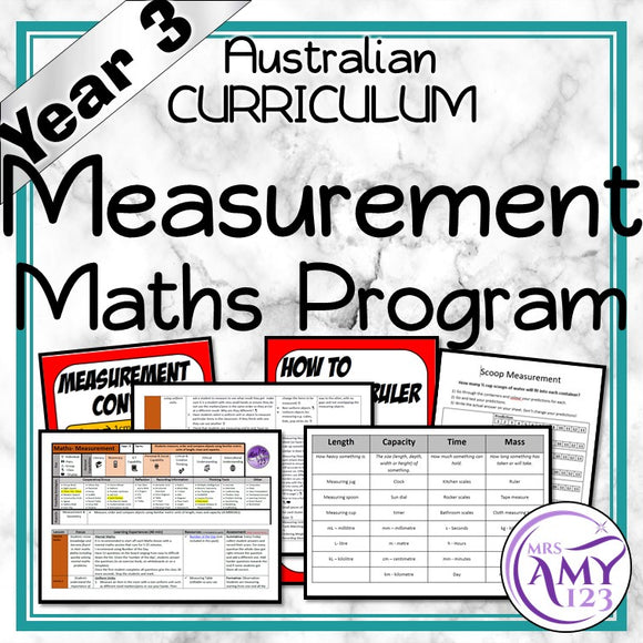 Year 3 Measurement Maths Program
