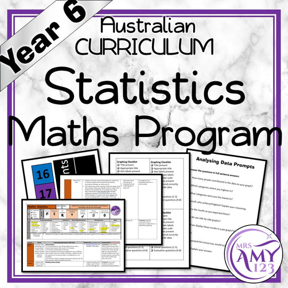 Year 6 Statistics Maths Program