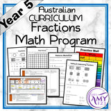 Year 5 Fractions Maths Program