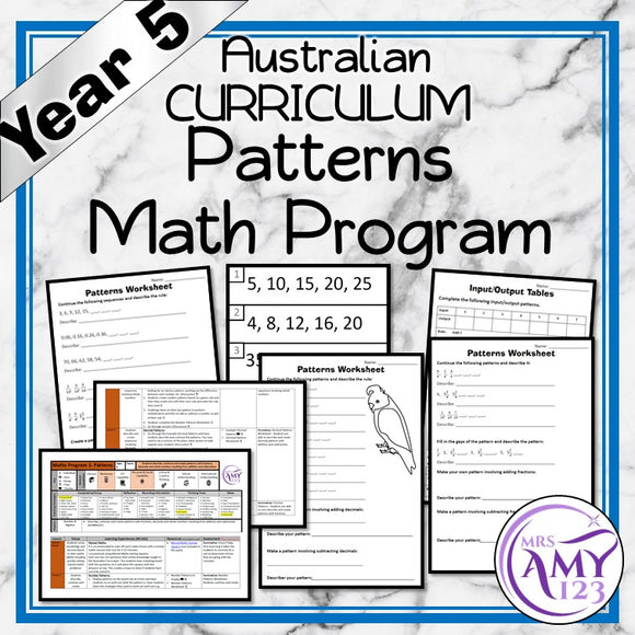 Year 5 Patterns Maths Program
