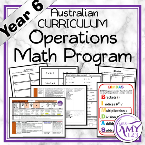Year 6 Operations Maths Program