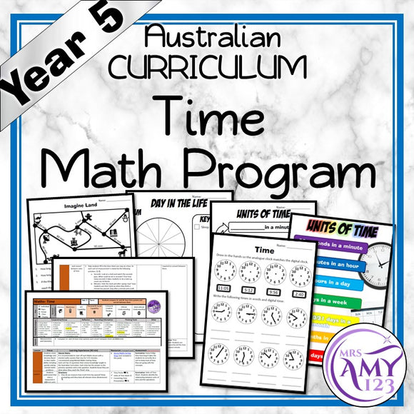 Year 5 Time Maths Program